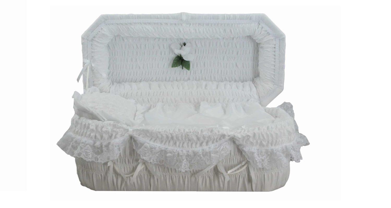 Cercueils Bernier - Modèle #8 Blanc / Bernier Caskets - Model #8 White