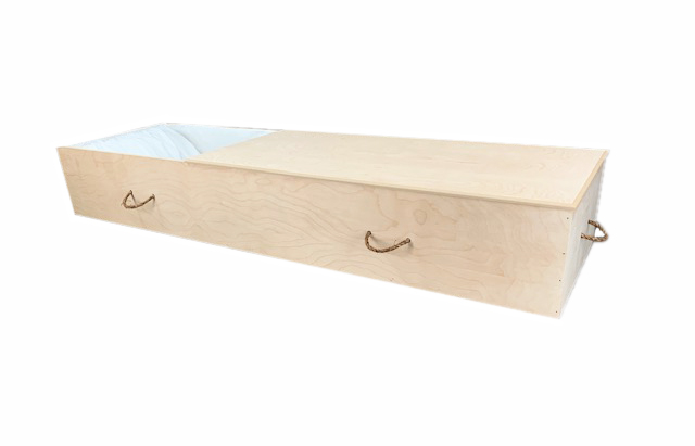 Cercueils Bernier - Modèle #14 Model MDF Ouvert/Opened